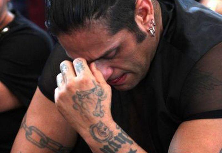 El Cibernético fue uno de los más afligidos por la pérdida de uno de los luchadores más queridos en el gremio. (Foto: Notimex)