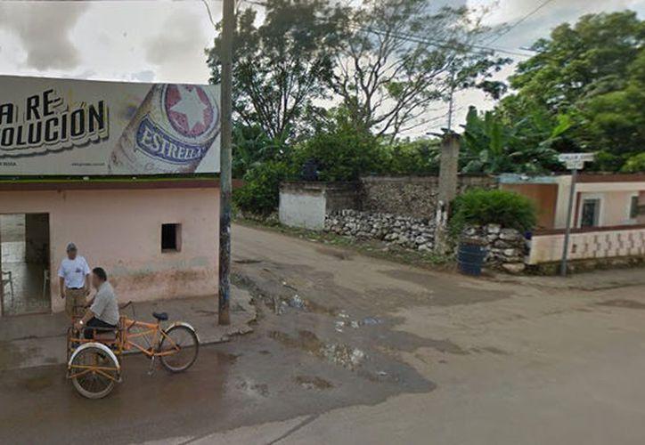 """La riña sucedió entre varios parroquianos de la cantina """"El Corsario"""" en Tzucacab, (Imagen de contexto tomada de Google Maps)"""
