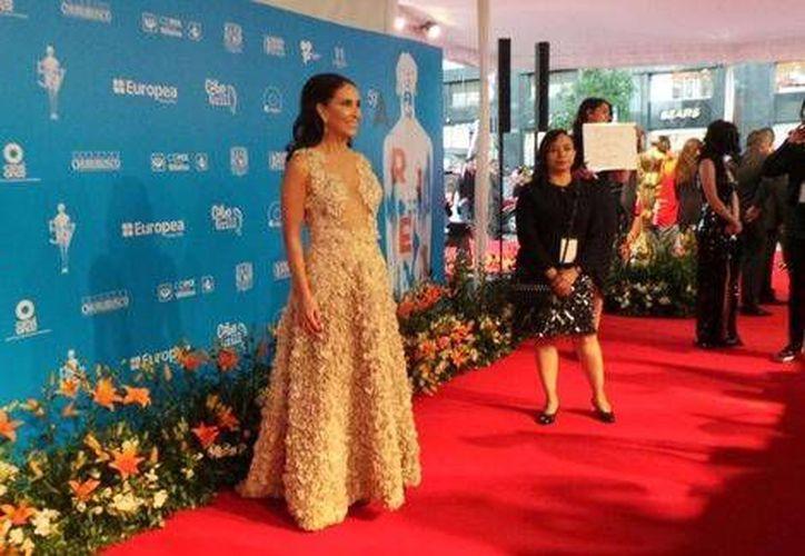 Blanca Guerra, presidenta de la AMACC, dio inicio con la alfombra roja previo a la entrega de Premios Ariel a lo mejor del cine mexicano. (Twitter AMACC)