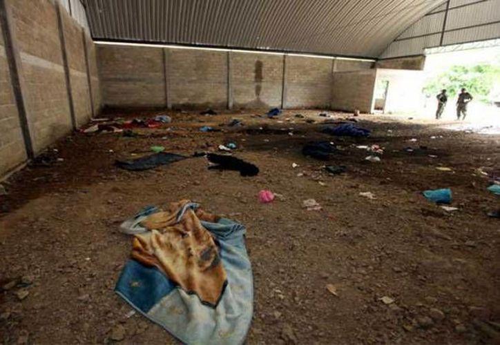 La bodega en el municipio de Tlatlaya, Estado de México, donde ocurrieron las presuntas ejecuciones de parte de soldados, el pasado 30 de junio. (Archivo/Agencias)