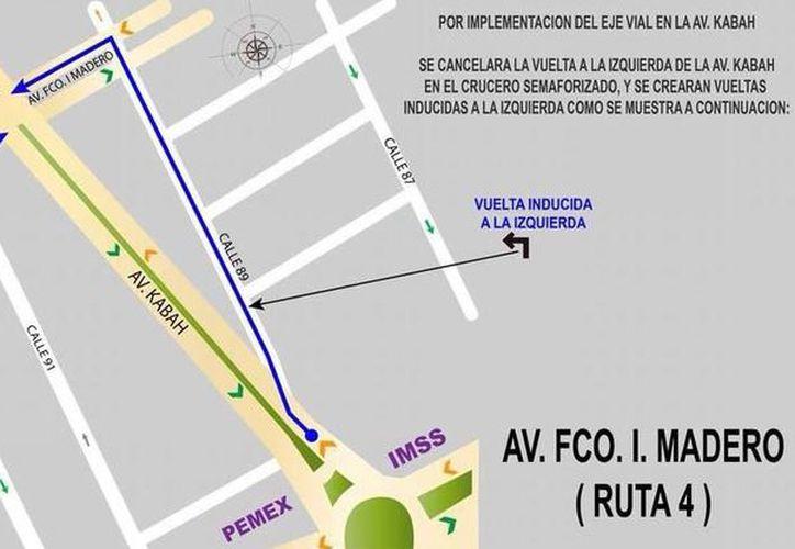 Desde el pasado jueves, la Dirección de Tránsito Municipal dio a conocer el cambio de vialidades. (Redacción/SIPSE)