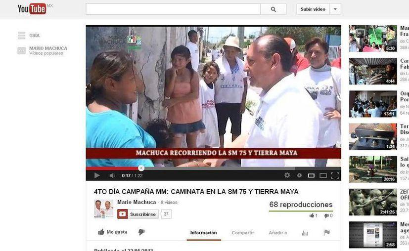 Mario Machuca busca el voto ciudadano con canciones adaptadas a su campaña. (Redacción/SIPSE)