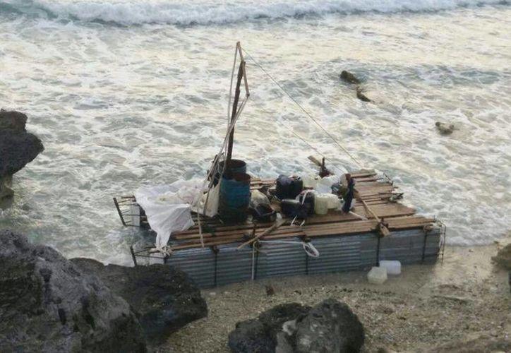 Los antillanos viajaron 18 días en altamar, saliendo el pasado 27 de marzo de la Isla de la Juventud. (Redacción/SIPSE)