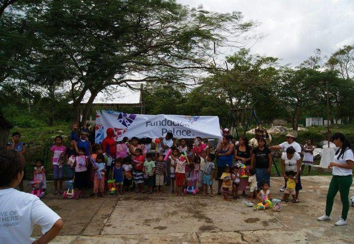 La fundación realiza eventos especiales como la celebración del Día del Niño. (Cortesía/SIPSE)