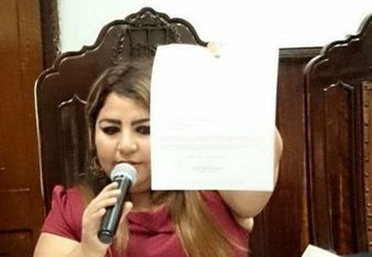 """La priista Alejandra Cerón Vales aseguró que la Dirección de Desarrollo Social Municipal se convirtió en un ''botín político para el PAN"""". (Cortesía)"""
