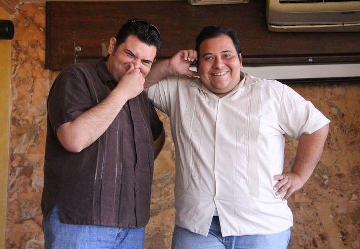 Mario y Daniel Herrera tienen 20 años de trayectoria actoral. (José Acosta/SIPSE)