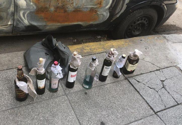 Por la ubicación de los artefactos, estos podrían haber sido utilizados por los manifestantes. (RT)