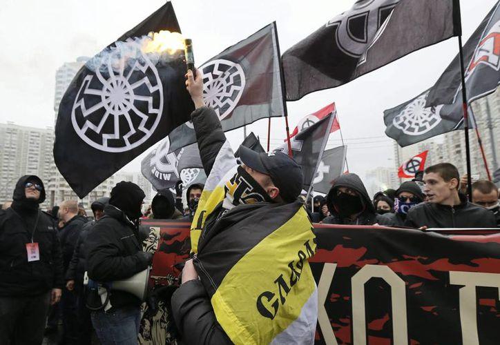 La marcha nacionalista no solo se realizó en Moscú (foto) sino en otras ciudades del país. (EFE)