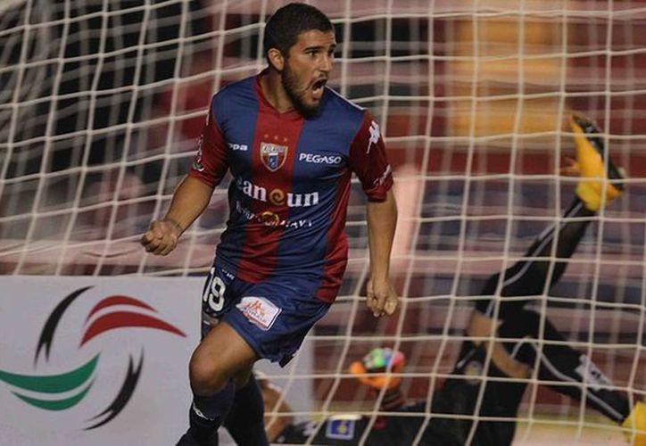 """Gabriel Hachen hizo el gol que """"reprobó"""" a los estudiantes de Altamira. (Cortesía Atlante FC)"""