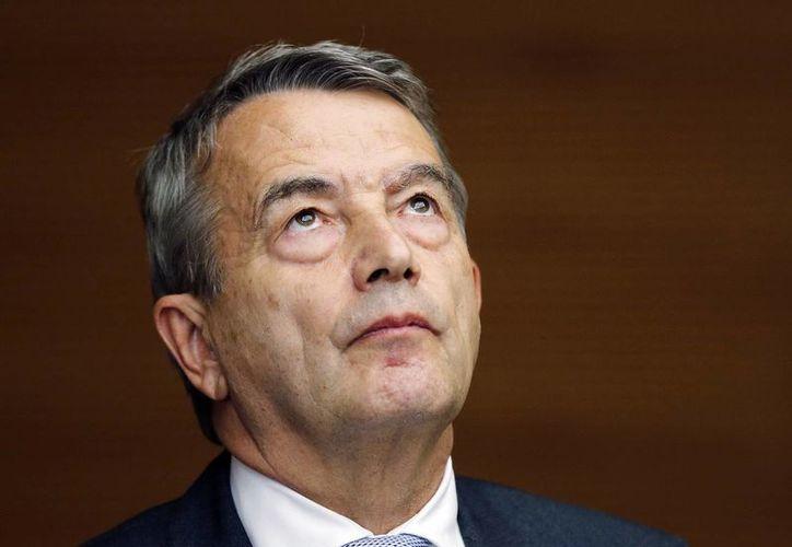 El representante del futbol alemán ante la FIFA, Wolfgang Niersbach, renunció a su puesto en el Consejo del organismo, tras un escándalo de corrupción. (Archivo/AP)