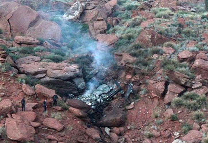 El helicóptero cayó a unos 50 kilómetros al este de Ratón, Nuevo México, en Estados Unidos. (Contexto/Internet)