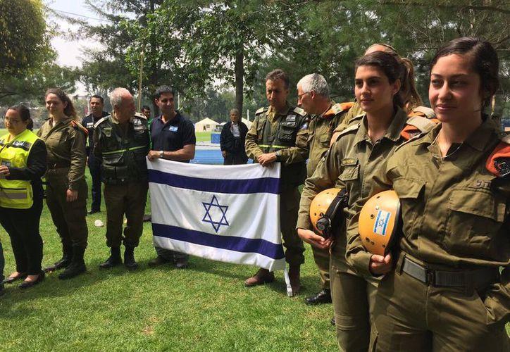En la ceremonia que se celebró en el Hangar de la Policía Federal, refirió que México e Israel comparten valores. (López Dóriga Digital)