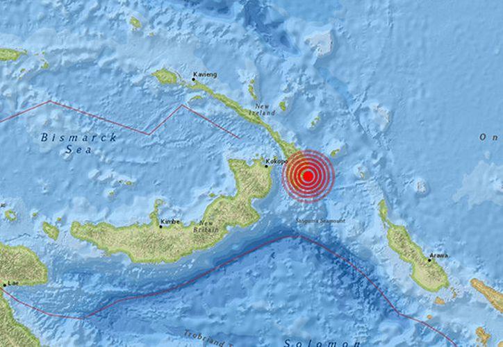 Un sismo de magnitud 6,8 se ha registrado en Papúa Nueva Guinea.  (earthquake.usgs)