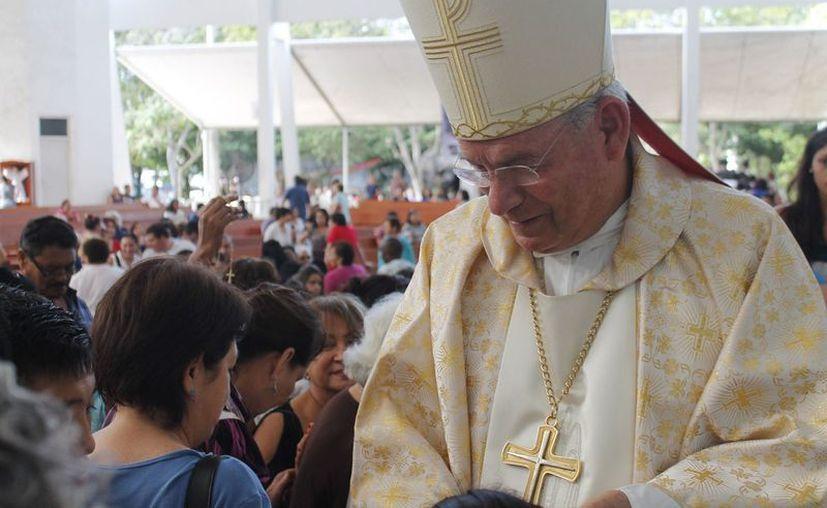 Monseñor Pedro Pablo Elizondo Cárdenas dijo que hay interés en la construcción de nuevas capillas. (Jesús Tijerina/SIPSE)
