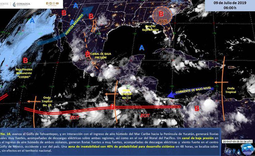 Pese a la interacción de los eventos meteorológicos, se mantendrán las altas temperaturas en el estado. (Servicio Meteorológico Nacional)