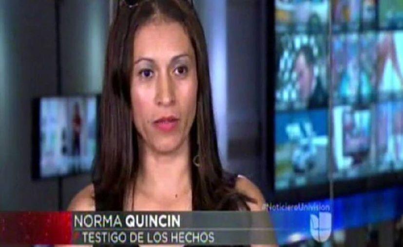 Norma Quincin dijo haber sido testigo de la agresión de Miguel Herrera hacia Christian Martinoli. (Captura de pantalla de Univisión )