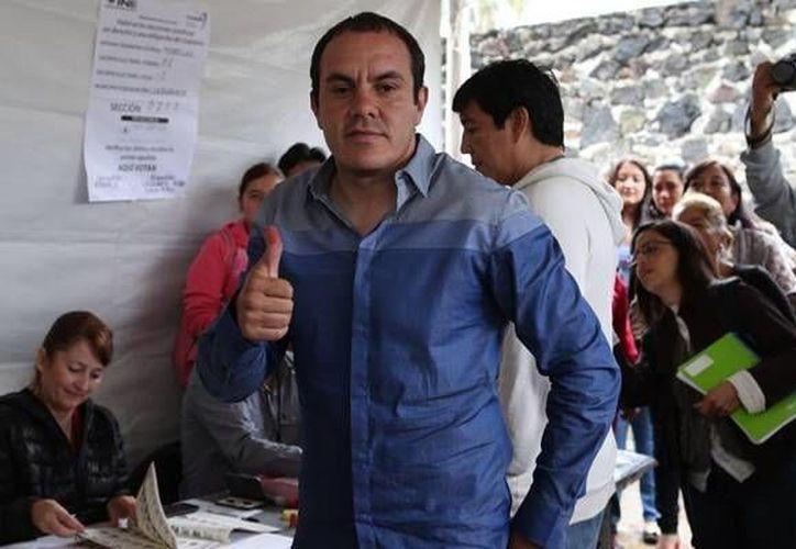 El contendiente por la alcaldía de Cuernavaca del Partido Social Demócrata (PSD), Cuauhtémoc Blanco, dijo que pese a la campaña en su contra, venció las adversidades (Twitter oficial @CuauhtemocBPSD)