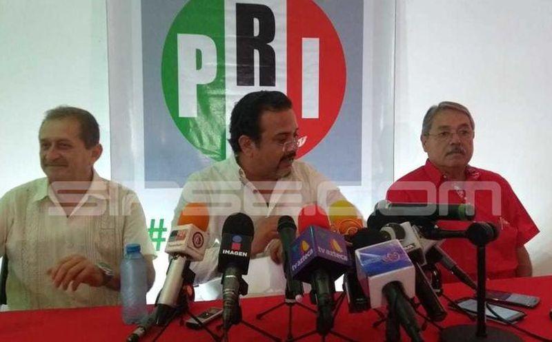 Carlos Sobrino, presidente estatal, aseveró que la tendencia de los resultados favorecen a Mauricio Sahuí Rivero. (Óscar Chan/ Milenio Novedades)