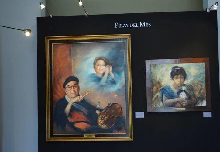 Una de las obras que están en exhibición en el Museo de la Ciudad, como parte de la exposición 'Ermilo Torre Gamboa: 90 años de un gran artista'. (SIPSE)