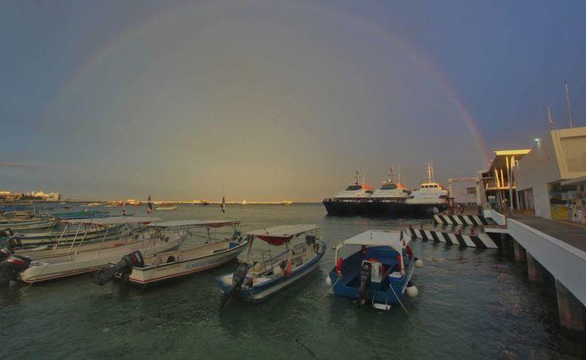 El nuevo atracadero, anexo al muelle San Miguel, tendrá capacidad para 45 embarcaciones de diferente calado.  (Gustavo Villegas/SIPSE)