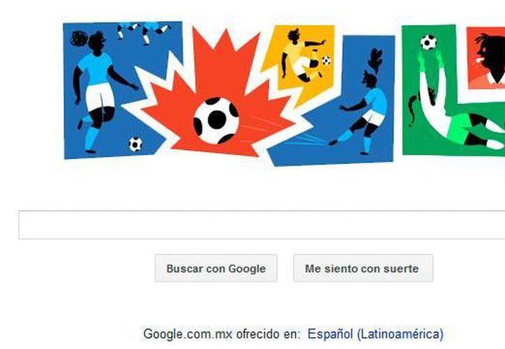 Este viernes a través de un doodle el famoso buscador celebra el inicio de la Copa Mundial Femenina de la FIFA 2015, la cual se realizará en Canadá (Google.com)