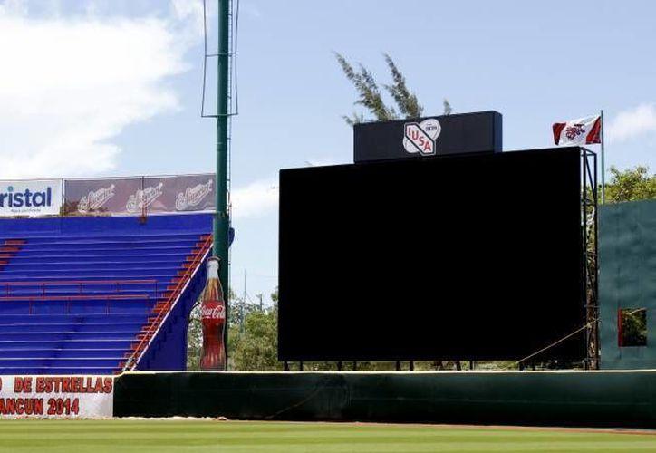 La pantalla será inaugurada en el juego de estrellas que se realizará del 30 de mayo a 1 de junio. (Francisco Gálvez/SIPSE)