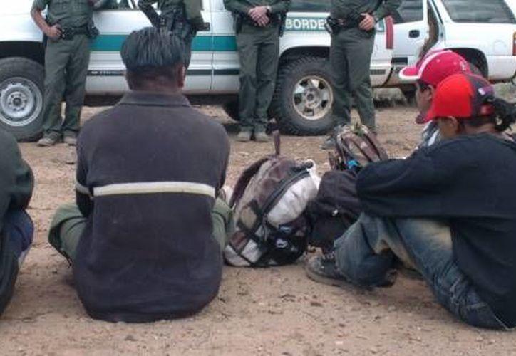 Imagen de archivo de un rescate de inmigrantes en la frontera México-EU. (Archivo Sipse.com)