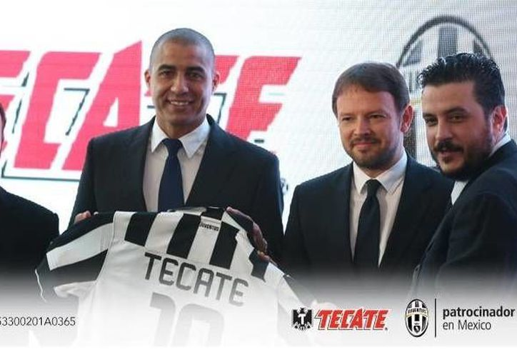El exfutbolista David Trezeguet, estrella de Juventus, presidió el acuerdo entre Tecate y el club italiano. (Twitter)