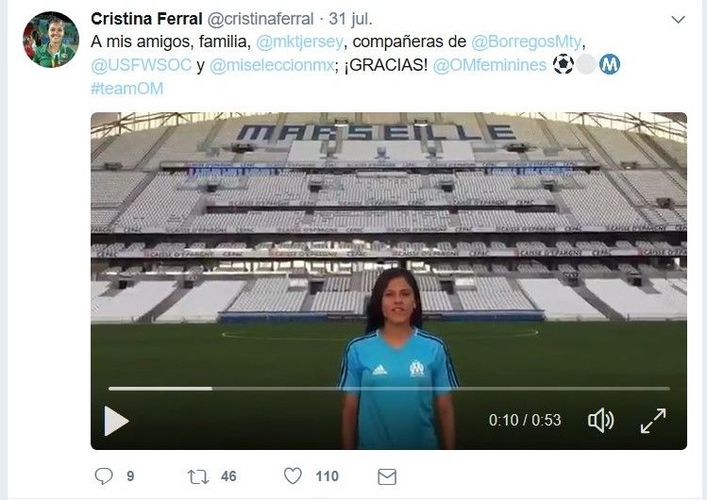 Seleccionada mexicana va al Olympique de Marsella