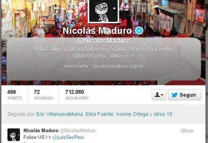 La cuenta @NicolasMaduro fue intervenida después de que el aspirante del chavismo difundiera mensajes invitando a votar. (Twitter.com)
