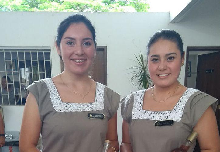 Las hermanas Cristi Joaquina y Cecilia Argáez Rodríguez. (Milenio Novedades)