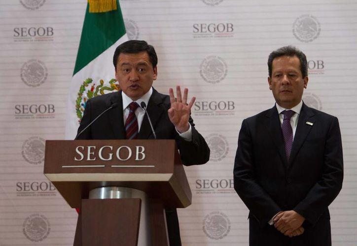 El secretario de Gobernación, Miguel Ángel Osorio Chong, dijo que la tendencia puede cambiar de manera repentina. (Notimex)