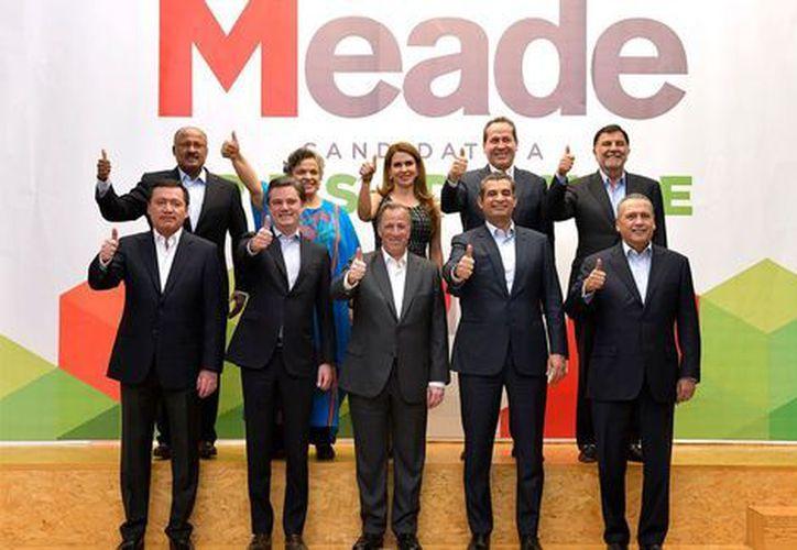 José Antonio Meade, incorporó a su equipo a Miguel Ángel Osorio Chong para encargarse de coordinar los trabajos de los aspirantes del PRI al Senado, (Milenio)