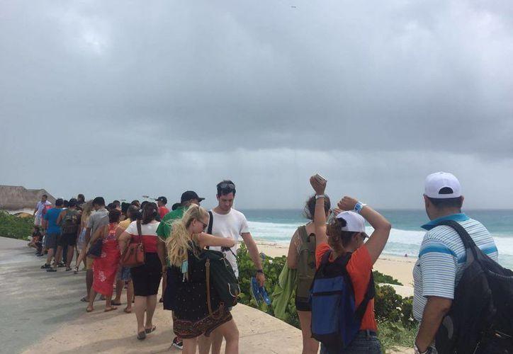 La zona turística de la Riviera Maya está libre de los efectos de la tormenta. (Israel Leal/SIPSE)