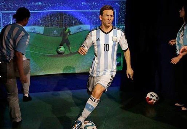 El delantero argentino Lionel Messi 'fichó' para el Museo de Cera de Nueva York. (Foto: AP)