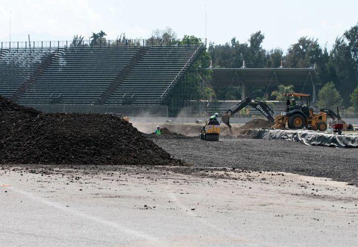 Las remodelaciones del Autódromo Hermanos Rodríguez van bien. En el Gran Premio de Fórmula Uno de México competirá el mexicano Sergio Pérez, Checo. (Notimex)