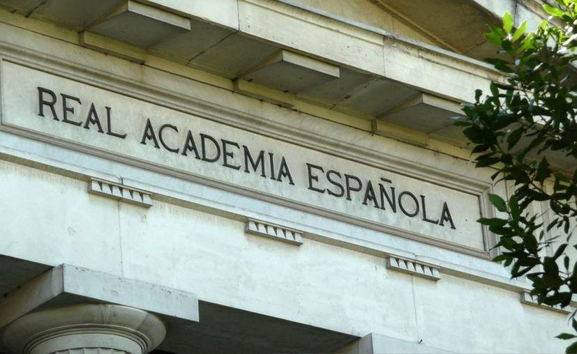 Detalle de la sede de la Real Academia Española en Madrid. (EFE)
