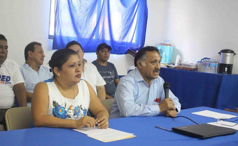 Dirigentes del partido expusieron en rueda de prensa que el motivo de la actualización es para tener datos exactos. (Jesús Caamal/SIPSE)