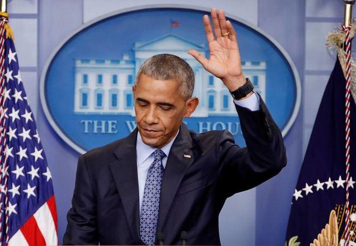 El presidente Obama dijo que en algún momento los presidentes de EU estarán 'tan mezclados' que nadie sabrá cómo llamarlos. (AP/Pablo Martinez Monsivais)