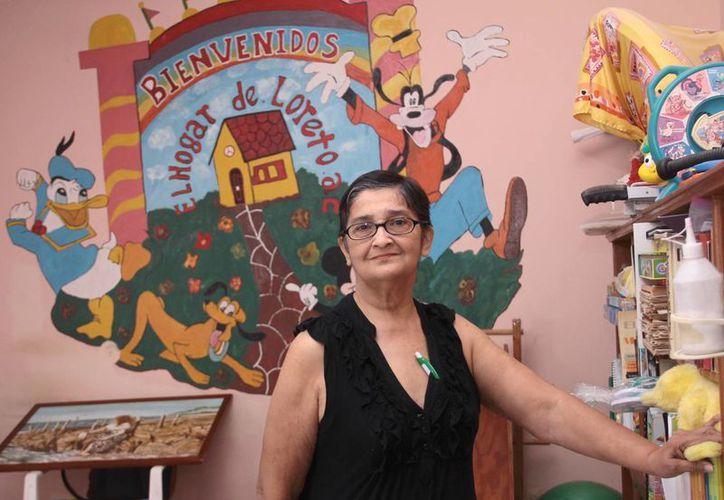 Loreto Marrufo Gurrutia, fundadora de la organización 'El Hogar de Loreto', desde hace 30 años impulsa el tema de la atención y derechos de personas con discapacidad. (Jorge Acosta/SIPSE)