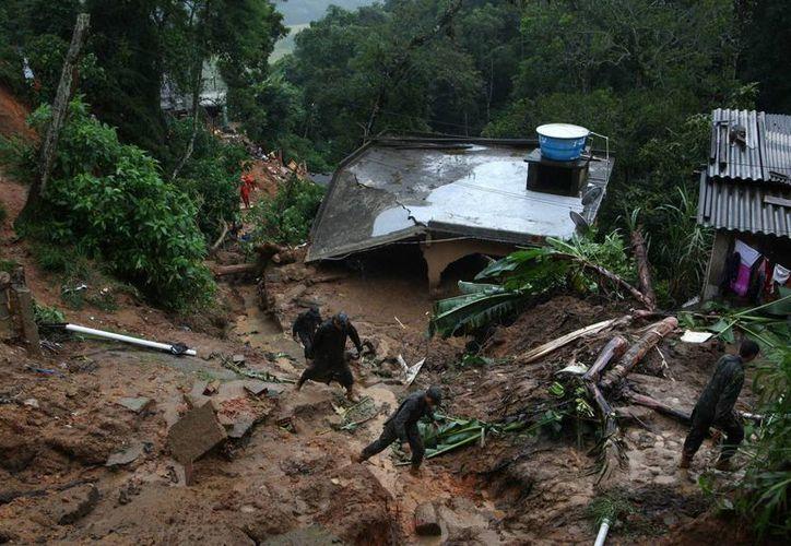 La región de Itaquí es una de las más afectadas por el intenso temporal: se registran mpas de 5 mil damnificados. (EFE)