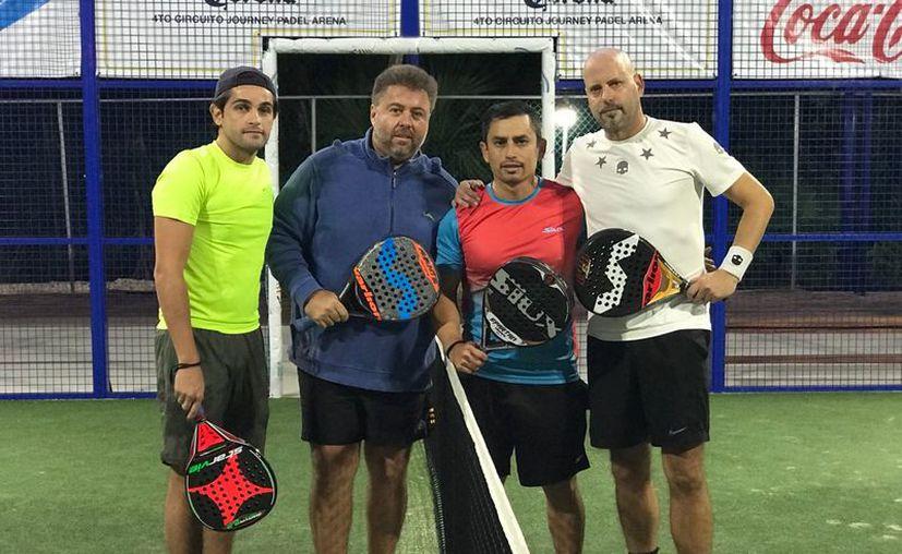 ARceo y Laitter vencen 6-4 y 7-6 a Zárate y Fernández, en Pádel de Primera. (Rául Caballero/SIPSE)