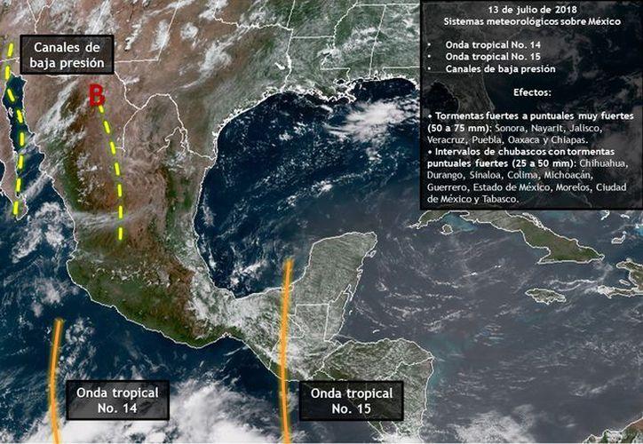 Las precipitaciones y los vientos se deberán a la abundante entrada de humedad proveniente de ambos litorales. (Redacción/SIPSE)