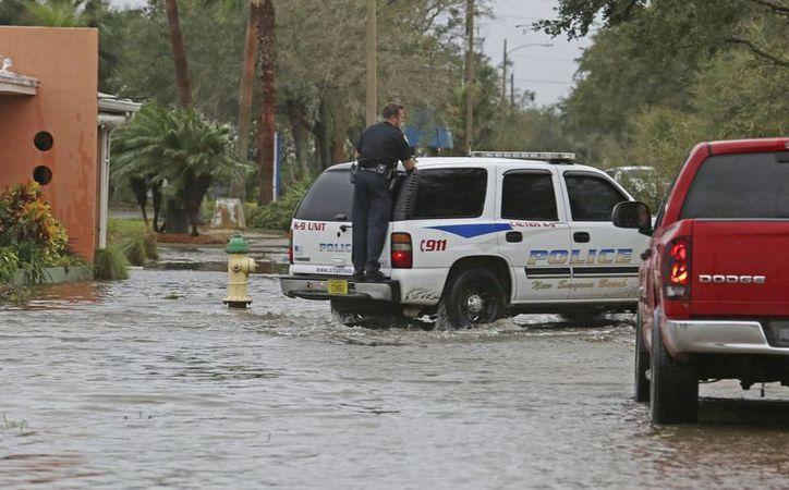 En sitios históricos de Florida, como la ciudad de San Agustín, los daños por el embate de 'Matthew' son cuantiosos. (Red Huber/Orlando Sentinel via AP)