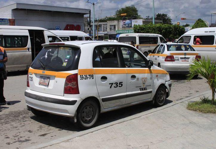 Señalan que por el momento no se tiene un censo de cuántas placas de taxis están involucradas en hechos delictivos. (Archivo/SIPSE)