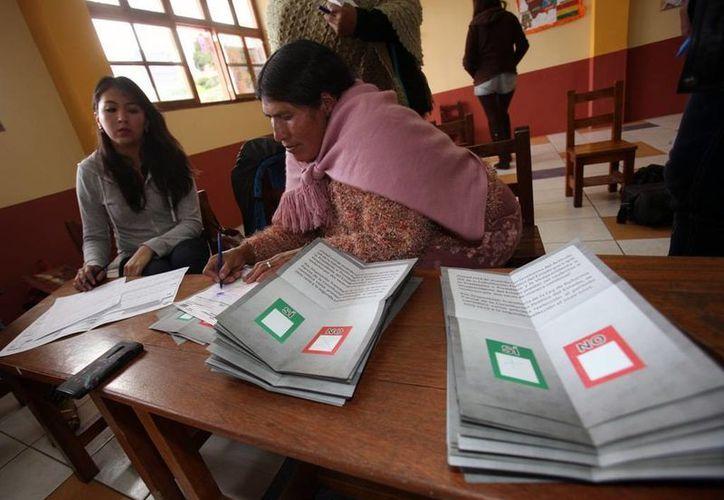 El resultado oficial del referendo podría tardar en anunciarse, como es habitual en todos los comicios bolivianos. (EFE)