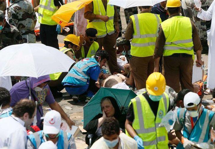 Una estampida humana en la tradicional peregrinación anual a La Meca dejó centenares de muertos. (AP)