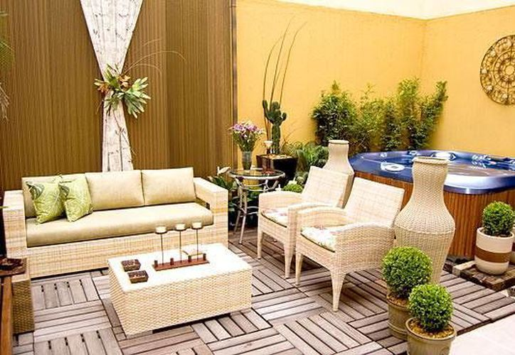 Los patios  e interiores llenos de plantas, además de resultar bonitos, refrescan. (Contexto/Internet)