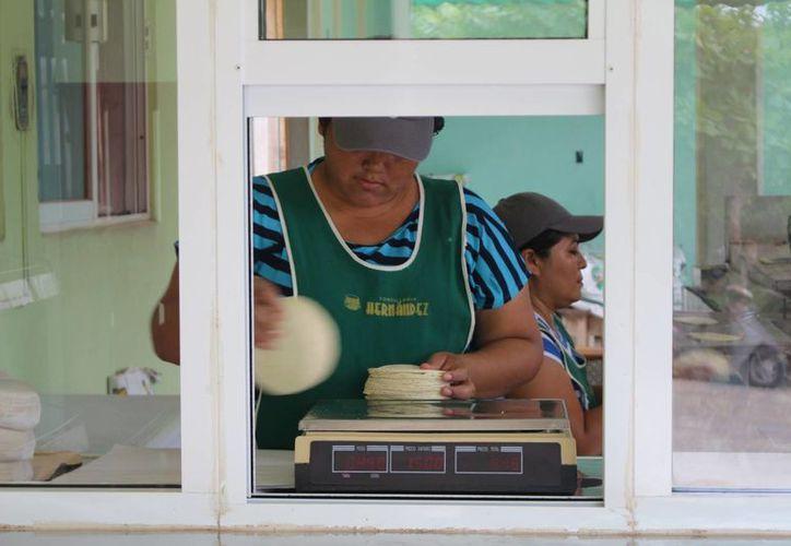 En Felipe Carrillo Puerto la tortilla elaborada con máquina es consumida prácticamente solo en la ciudad. (Benjamin Pat/SIPSE)
