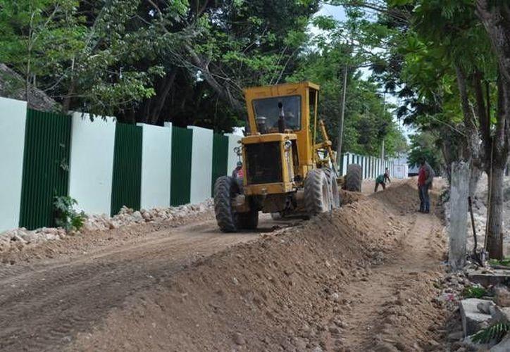 Aspecto de las obras que realiza el INCAY en Tizimín. (Cortesía)